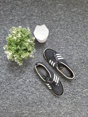 Adidas Ballerine à bride arrière blanc-noir