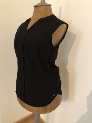 Schwarze ärmellose Bluse (ungetragen)