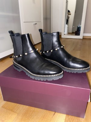 Aigner Booties black-gold-colored