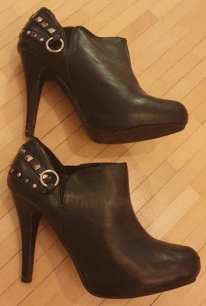 Schwarze Ankle Boots - 11.5cm Absatz