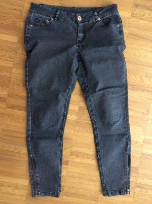 schwarze Ankle Jeans Review Gr. 28