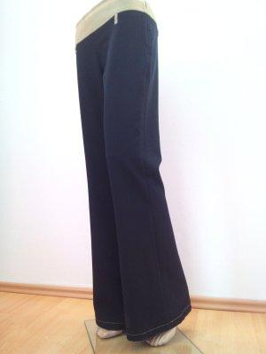 Schwarze Anzugshose mit Schlag