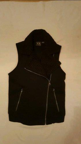 Armani Exchange Fake Fur Vest black