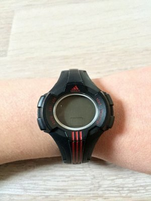Adidas Digital Watch black-red mixture fibre