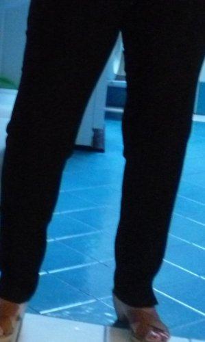 Schwarze Ausgehhose: -Steilmann- elastische edle anschmiegsame Qualität, schlanke Form, kleine Seitenschlitze