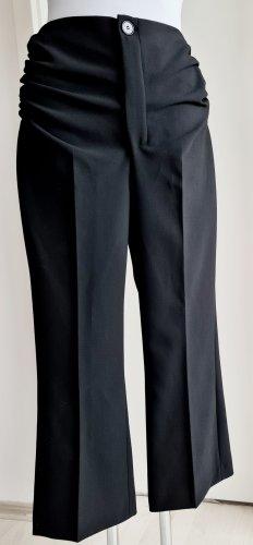 Schwarze ausgestellte 7/8 Hose Culotte