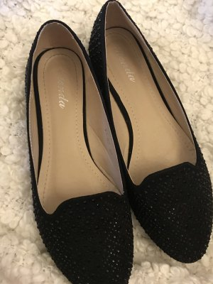 Peep Toe Ballerinas black