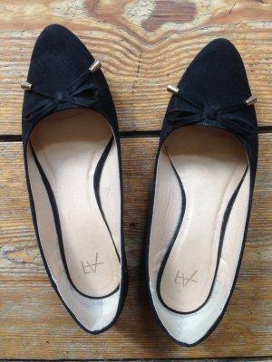 Ballerina's met kant zwart Imitatie leer