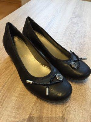 schwarze Ballerinas Rieker