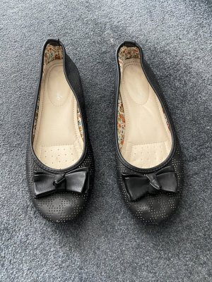 Schwarze Ballerinas, Sommerschuhe, Schuhe