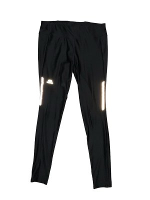 Schwarze Basic Sporthose mit Leuchtstreifen