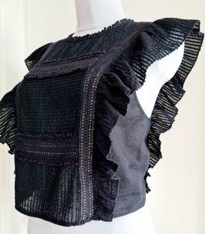 Schwarze Batik Bluse