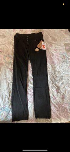 Janina Denim Pantalon en lin noir