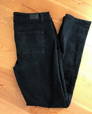 Schwarze BDG Biker Slim Fit Stretch Jeans 31/30