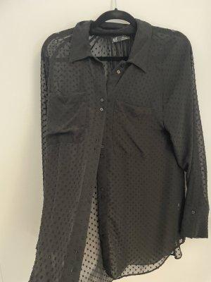 schwarze bestickte bluse