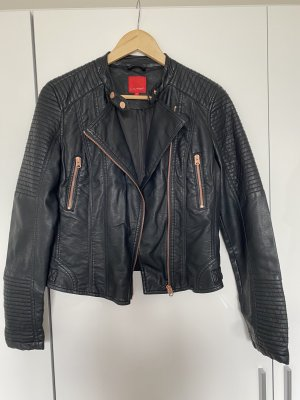 Livre Faux Leather Jacket black