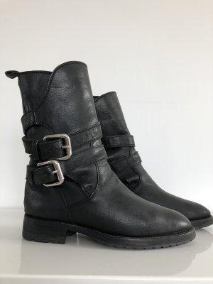 Dolce & Gabbana Botte de moto noir cuir