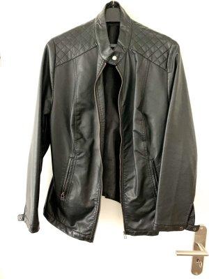 Giacca da motociclista nero Finta pelle