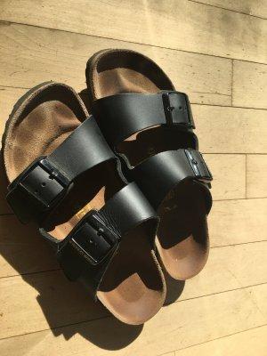 Birkenstock Comfort Sandals black leather