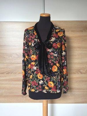 Zara Blouse avec noeuds multicolore viscose