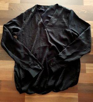 Glanzende blouse zwart