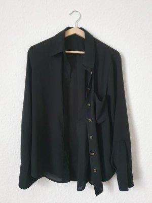 Mango Bluzka z długim rękawem czarny