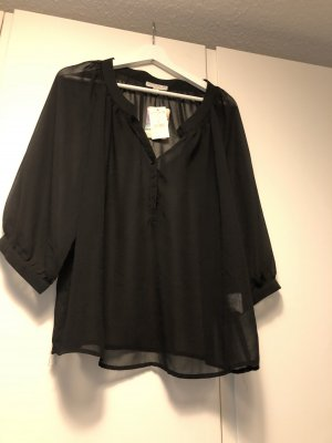 Cotton On Transparent Blouse black polyester