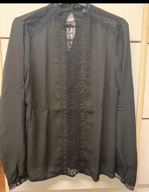 Pimkie Blusa de encaje negro