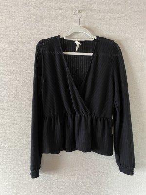 H&M Camicetta a maniche lunghe nero