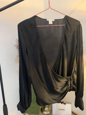 H&M Blouse en soie noir