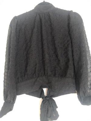 Blouse met opstaande kraag zwart