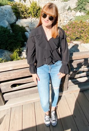 Ruffled Blouse black