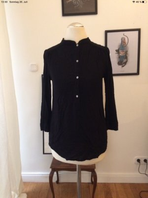 H&M Stand-Up Collar Blouse black