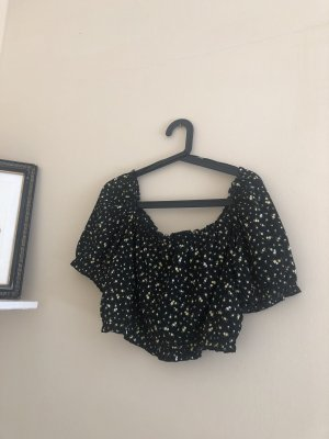 schwarze Bluse (bauchfrei)