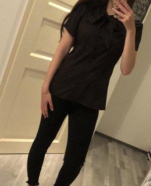 Schwarze Bluse Belle Poque M
