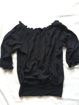 schwarze Bluse für den Sommer
