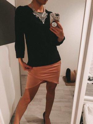schwarze Bluse langarm Damen Gr XS 34
