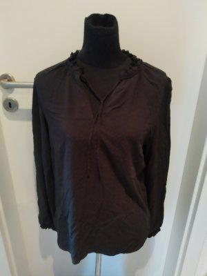 Schwarze Bluse/Langarmshirt in Größe 40 von C&A