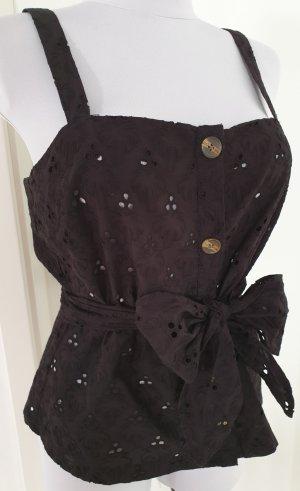 Schwarze Bluse mit Bindegürtel