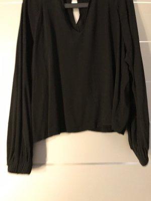 Schwarze Bluse mit Cut Out Gr. L