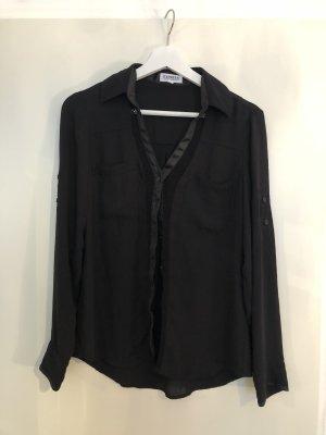 Schwarze Bluse mit Details