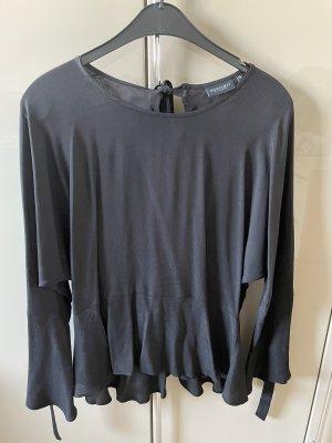 Broadway Glanzende blouse zwart