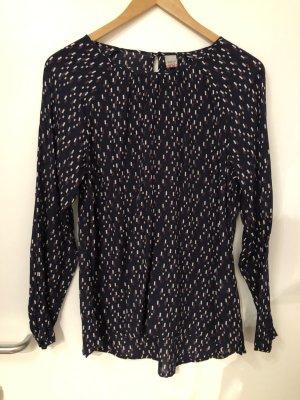 Schwarze Bluse mit grafischem Muster