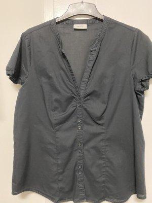 schwarze Bluse mit kurzem Arm