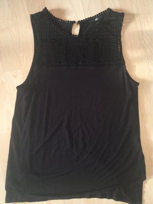Schwarze Bluse mit Muster