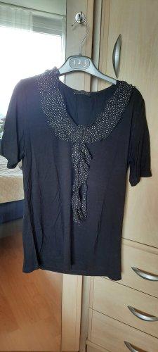 Apanage Bluzka z krótkim rękawem czarny-biały
