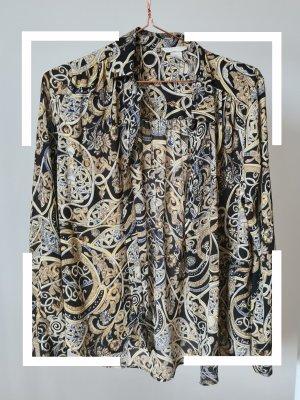 schwarze Bluse mit Muster, gr. 40, H&M