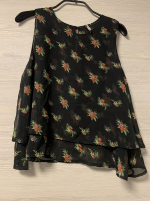 Defacto Blusa senza maniche nero-rosso mattone