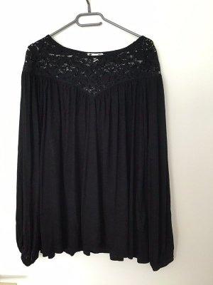 Schwarze Bluse mit Spitze, Gr. M(L), H&M, Neu