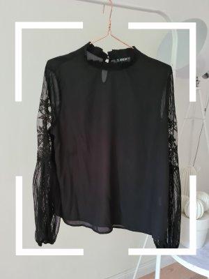 SheIn Koronkowa bluzka czarny